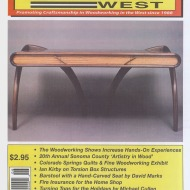 Woodworker West, November-December 2008, featured Todd's Angled Arch Desk on the cover.