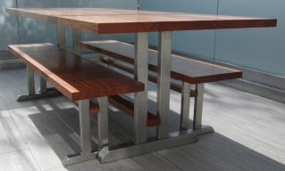 Outdoor Table and Benches by Todd Ouwehand